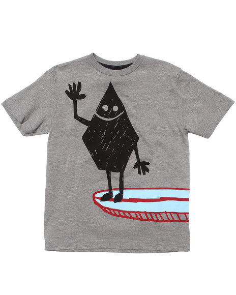 Volcom Boys Grey Hey Surfin' Tee (8-20)