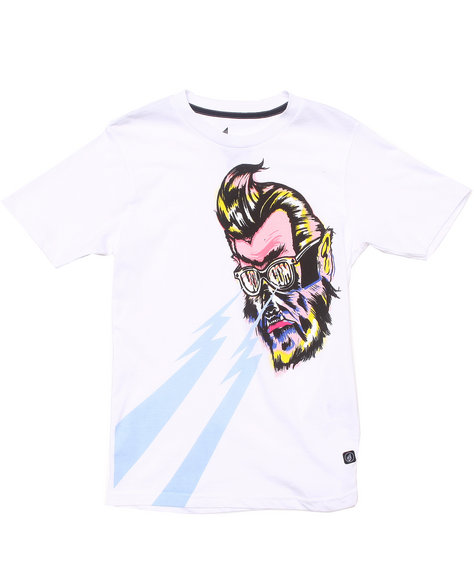 Volcom Boys White Shawn Higgins Wolf Tee (8-20)