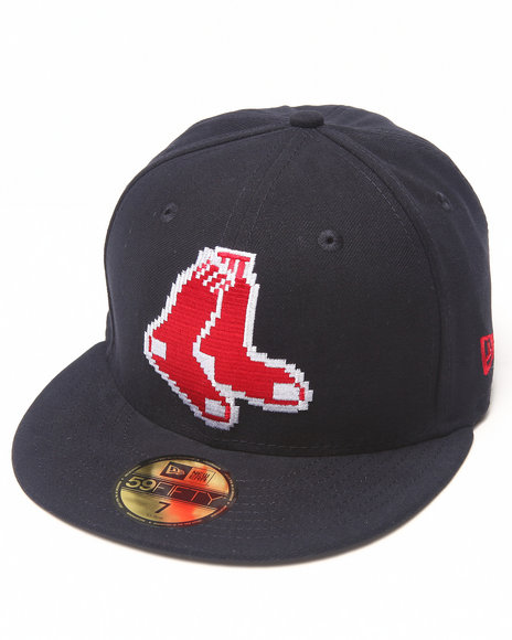 New Era - Men Navy Boston Red Sox Ne Pixel 5950 Fitted Hat