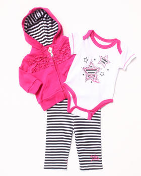 Baby Phat - 3 PC SET - HOODIE, BODYSUIT, & PANTS (NEWBORN)