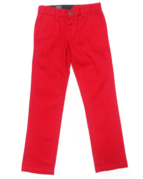 Volcom - Boys Red 2X4 Chino Pants (8-20)