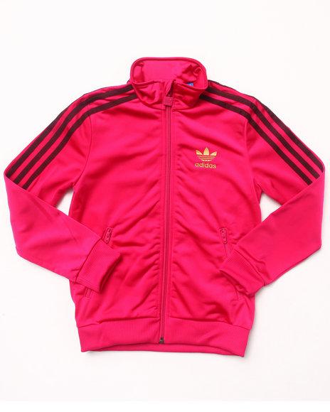 Adidas Girls Pink Firebird Track Jacket