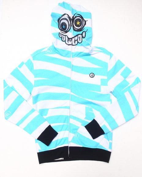 Volcom - Boys Blue Blockhead Fleece Hoodie (8-20)