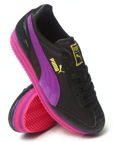 Puma Girls Black Puma Sf77 Platform Sneakers (4-7)