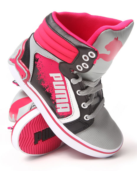 Puma Girls Lc Special Sneaker 117 Grey 5 Youth