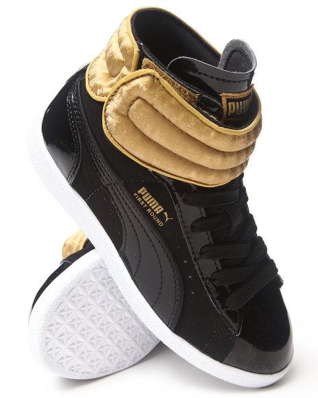 Puma Boys First Round Shimmy Sneaker 117 Black 1 Youth