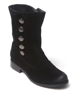 Fashion Lab - Basic ankle bootie w/button details