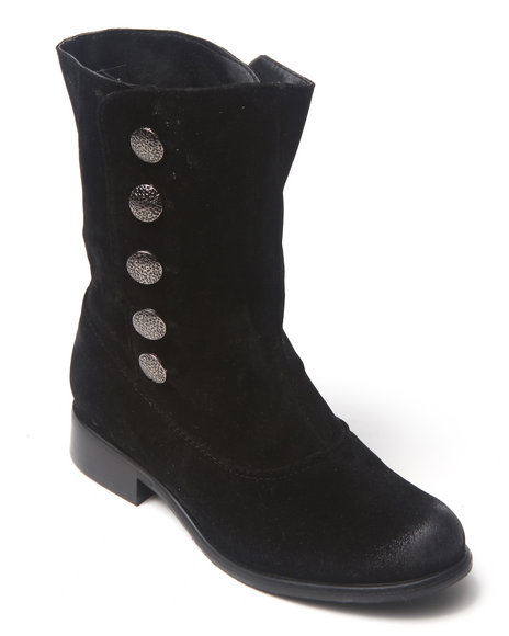 Fashion Lab - Women Black Basic Ankle Bootie W/Button Details - $14.99