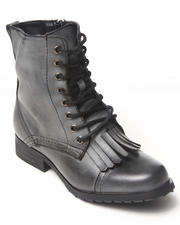Women - Military Lace-up boot