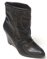 Footwear - Aurelle Bootie w/studs hidden wedge
