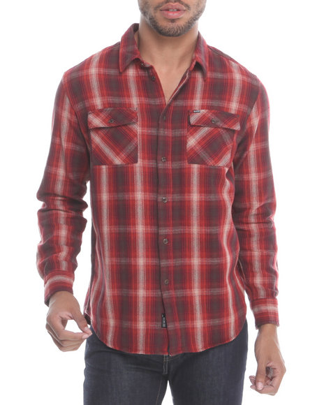 KR3W Red Escape Plaid Flannel L/S Button-Down
