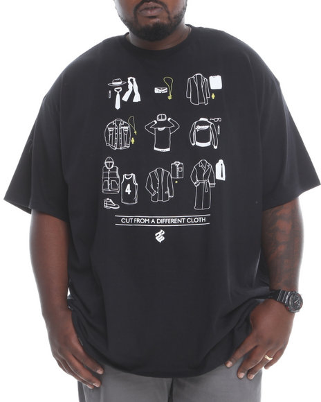 Rocawear Black Cut From A Different Cloth Tee (Big & Tall)