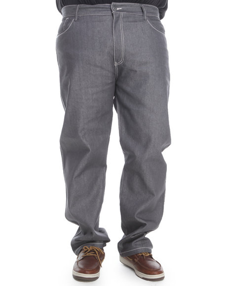 Pelle Pelle Men Contrast Stitch Straight Fit Denim Jeans BampT Grey 44x34