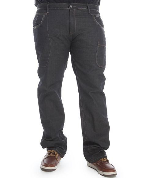A Tiziano Dark Wash Harp Straight Leg Denim Jeans (Big & Tall)
