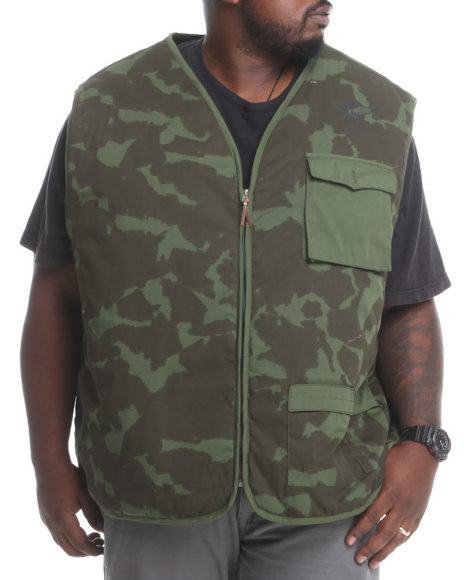 Rocawear - Men Camo Army Camo Vest (B&T)