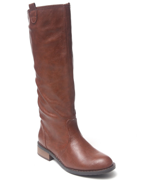 Fashion Lab - Women Brown Rossana Tall Riding Boot