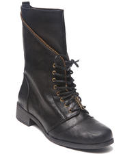 Women - Mani Zip Trim Military Combat Boot