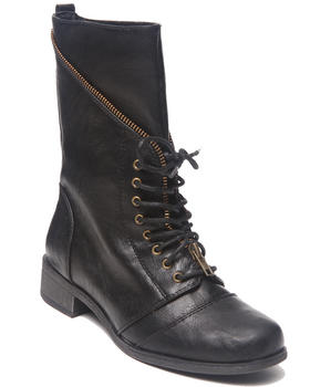 XOXO - Mani Zip Trim Military Combat Boot