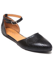 Women - Rhoda Pointy Toe Flat w/ankle strap