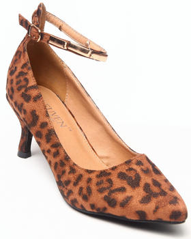 Fashion Lab - Vala Kitten Pointy Heel W/ankle strap