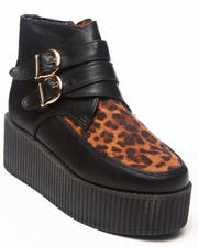 Footwear - Meliora Creeper w/animal print detail buckle