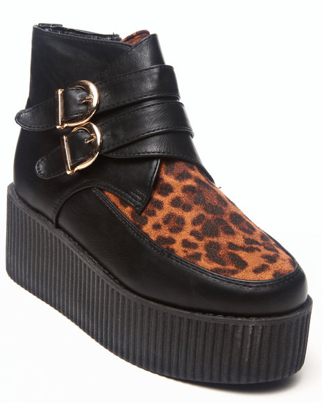 Fashion Lab - Women Animal Print Meliora Creeper W/Animal Print Detail Buckle
