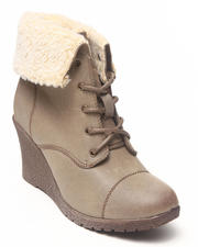 Fashion Lab - Jorida Wedge Bootie w/sherpa lining