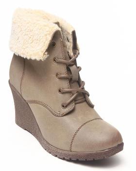 Fashion Lab - Jorida Wedge Bootie w/sherpa lining