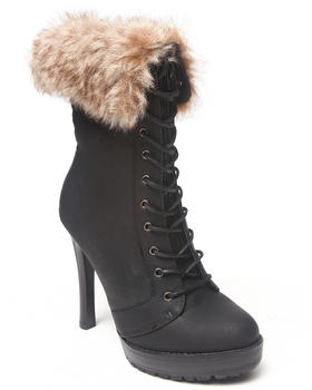 Basic Essentials - Lyndia Faux Fur Bootie