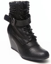 Footwear - Flash Wedge Studded Combat Boot