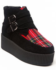 Footwear - Meliora Creeper w/plaid print detail buckle