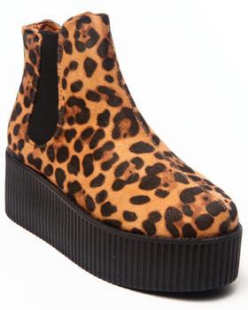 Fashion Lab - Saar Faux Suede Platform Bootie