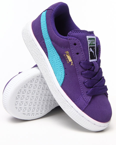 Puma Girls Purple Suede Jr Sneakers (1-7)