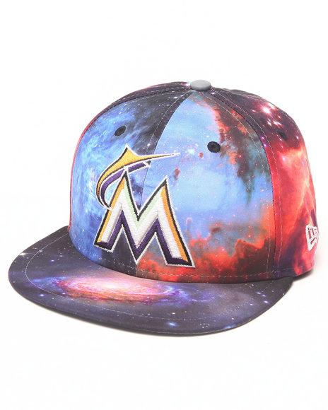 New Era - Men Multi Miami Marlins Galaxy 5950 Fitted Hat