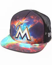 Men - Miami Marlins Galaxy A-Frame snapback hat