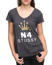 Stussy - No.4 CROWN V-NECK TEE