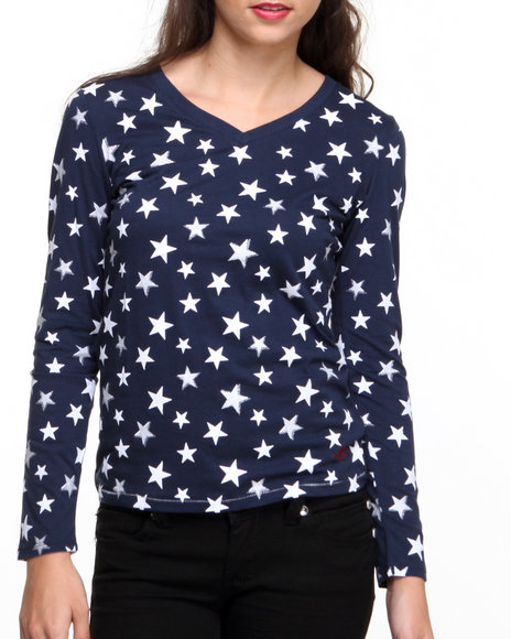 Levi's Blue Long Sleeve Stars Tee