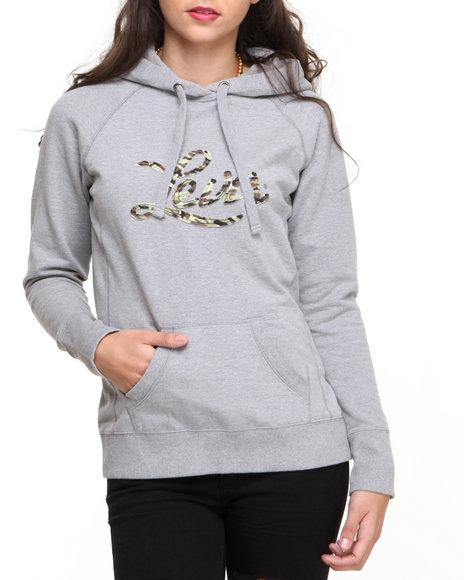 Levi's - Women Grey Camo Hoodie Pullover
