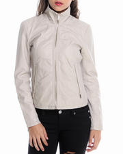 Kenneth Cole - Zip Front Vegan Leather Jacket