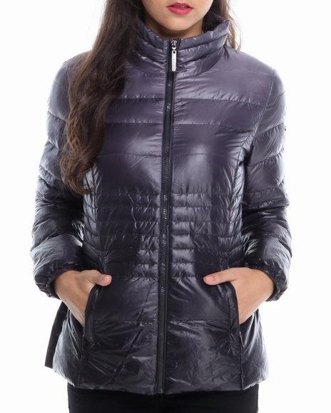 KENSIE Black,Grey Ombre Adjustable Waist Down Coat