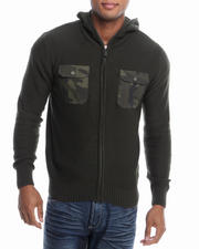 Men - Camo Accent Hooded Sweater