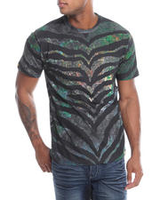 Men - Tiger Metal Print T-Shirt