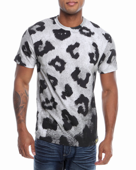 Filthy Dripped - Men Grey Cheetah Clouds T-Shirt