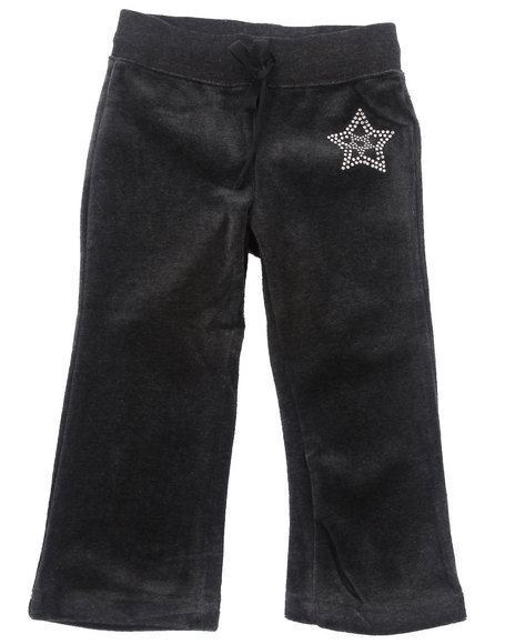 La Galleria Girls Charcoal Velour Pants (2T-4T)