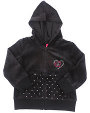 Hoodies - VELOUR JACKET (2T-4T)