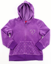 Hoodies - VELOUR JACKET (4-6X)