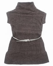 Dresses - BELTED CABLE SWEATER DRESS (4-6X)