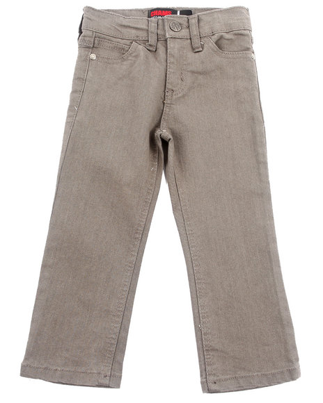 Arcade Styles - Boys Grey Slim Color Denim Jeans (2T-4T)