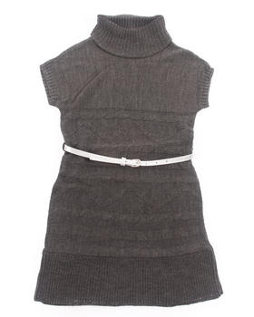 La Galleria - BELTED CABLE SWEATER DRESS (7-16)