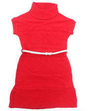Dresses - BELTED CABLE SWEATER DRESS (7-16)